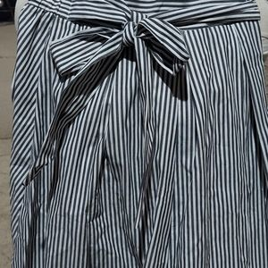 SEE YOU MONDAY STRIPED MIDI SKIRT SIZE S